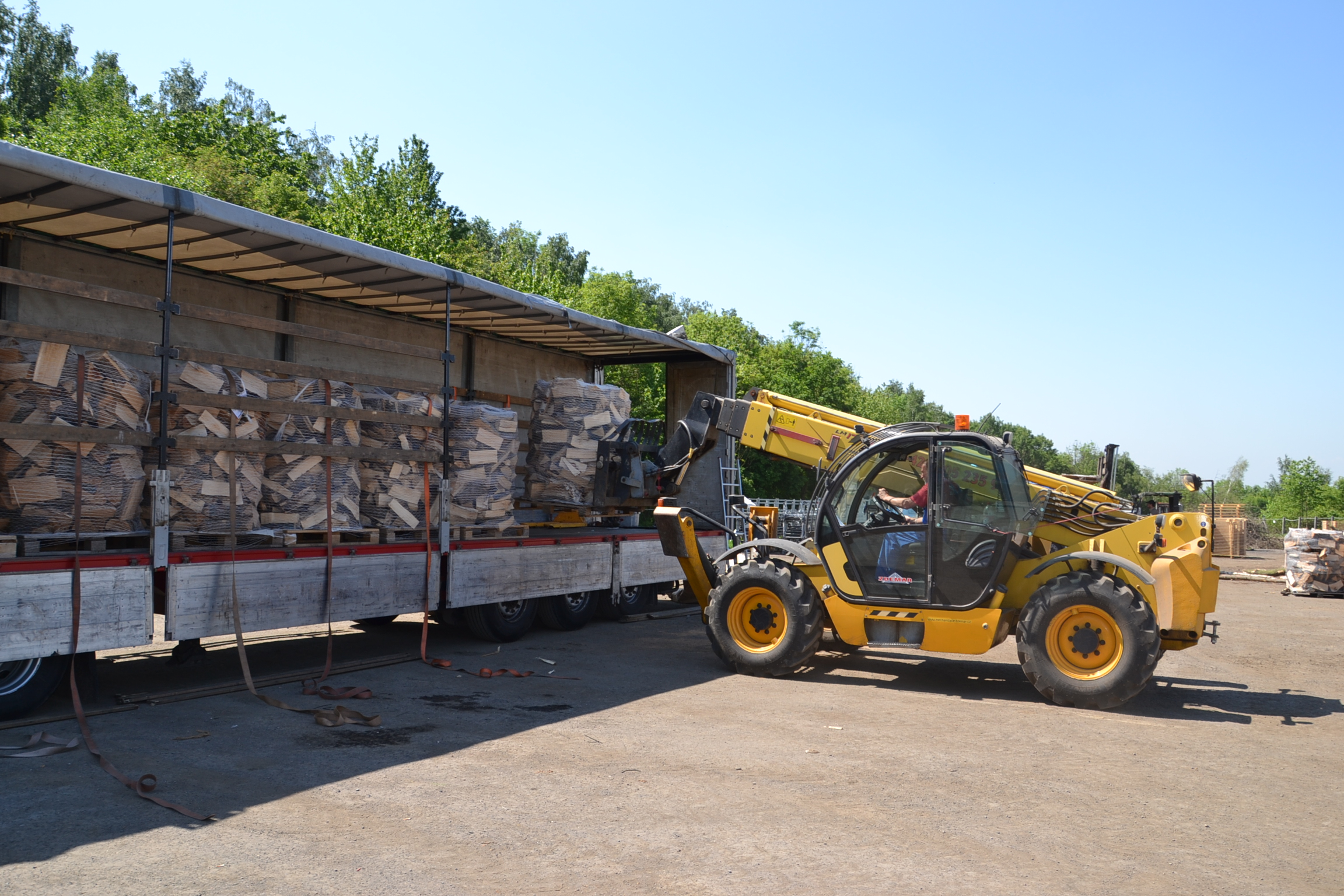 Loading of a pallet goods